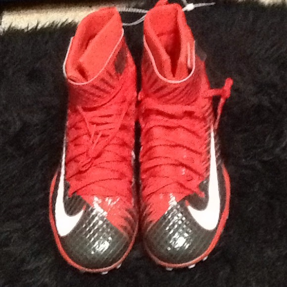Nike Other - Men's Black red Nike football cleats